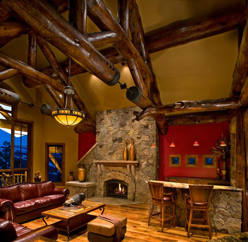 Baldy Estates Ranch - Fireplace