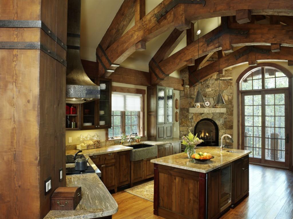 French Chateau Breckenridge Custom Home Kitchen