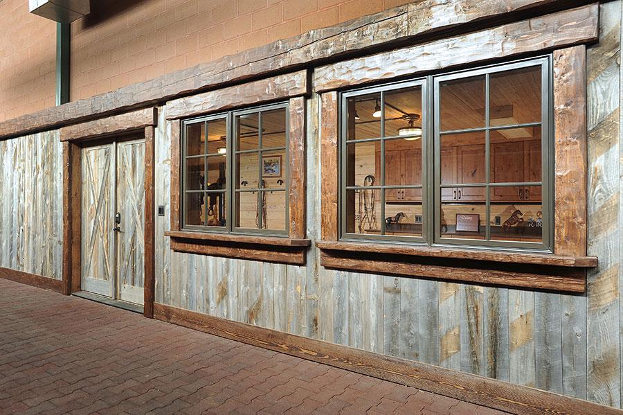 Equestrian Center Wood Siding