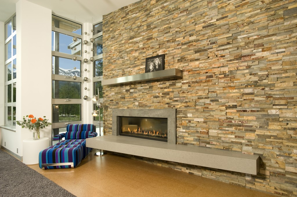 Mountain Modern Fireplacea