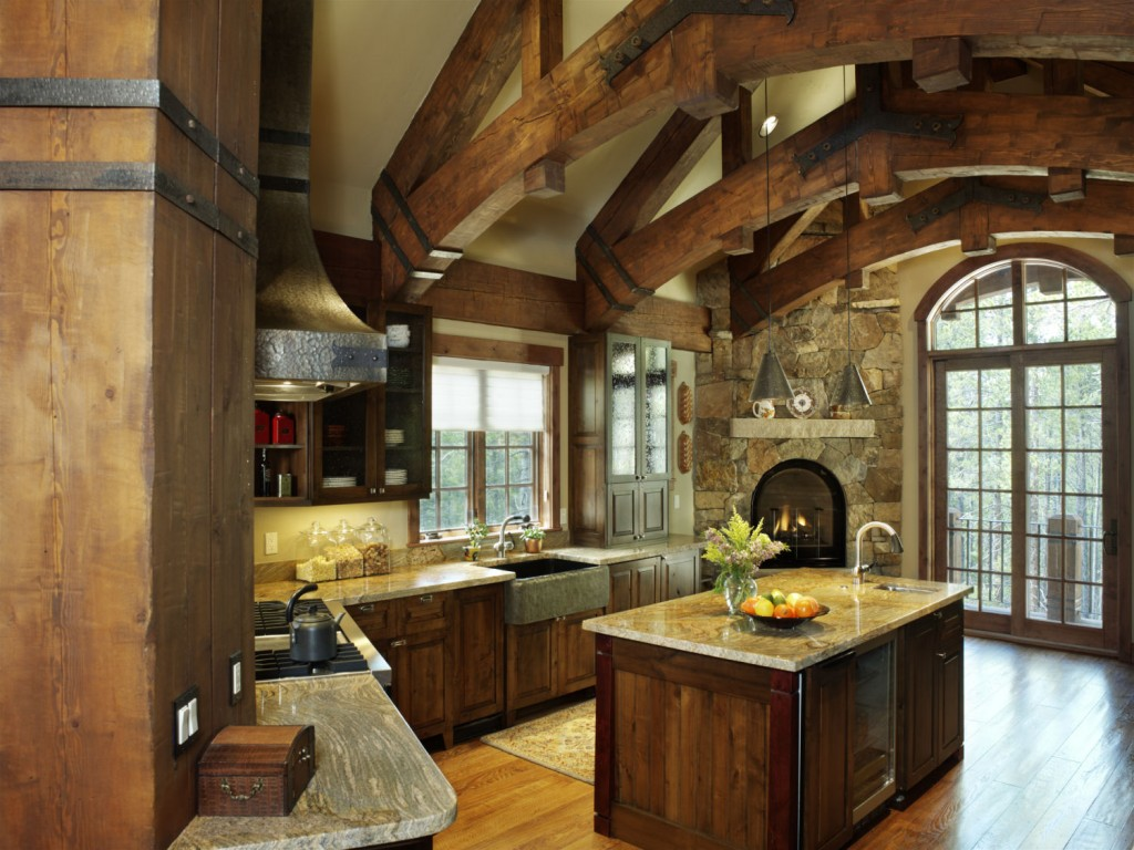 French Chateau Breckenridge Custom Home Kitchen